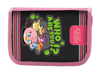 Купить Пенал на одной молнии, без наполнения, конгрев, металл, разм. 190х115 мм., цвет: серо-розовый, ACTION!, Пеналы
