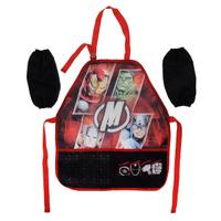 Купить Фартук Мстители , с нарукавниками, цвет: черно-красный, Мстители / Avengers, Аксессуары для труда