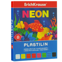 Купить Пластилин Erich Krause Neon , 8 цветов, Erich Krause Deutschland GmbH