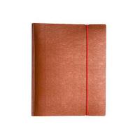 Купить Тетрадь 120л А5ф на 4 х кольцах Пластиковая обложка на резинке WOOD Красная, Hatber