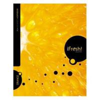 Купить Тетрадь с твердой обложкой 120л А5ф 4 х цв. блок клетка на гребне iFRESH апельсин, Hatber