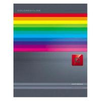 Купить Тетрадь с твердой обложкой 120л А5ф 4 х цв. блок клетка на гребне Colored_Line, Hatber