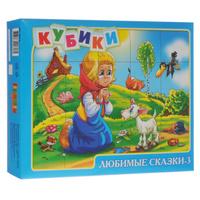 Купить Кубики Десятое королевство Любимые сказки-3 , 20 шт, Гиновкер и Тишук, Развивающие игрушки