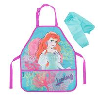 Купить Фартук для труда Princess , с нарукавниками, цвет: розовый, бирюзовый, Disney Princess, Аксессуары для труда