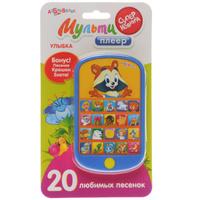 Купить Музыкальная игрушка Азбукварик Мульти плеер Улыбка , цвет: синий, желтый, Интерактивные игрушки