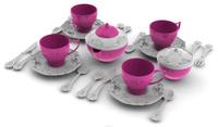 Купить Набор детской посуды Чайный сервиз Волшебная Хозяюшка , 22 предмета, цвет: белый, розовый, Нордпласт, Сюжетно-ролевые игрушки