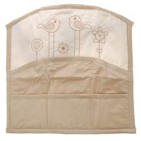 Купить Карман на кроватку Fairy Волшебная полянка , цвет: белый, бежевый, 59 см х 60 см, Fairy (ВПК)