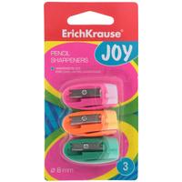 Купить Набор точилок Erich Krause Joy цвет розовый оранжевый зеленый 3 шт