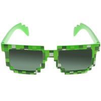 Купить Minecraft Очки солнечные Пиксельные цвет зеленый черный, Очки карнавальные