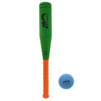Купить Игровой набор Safsof Бейсбольная бита и мяч , цвет: зеленый, оранжевый, синий