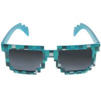 Купить Minecraft Очки солнечные Пиксельные цвет синий черный, Очки карнавальные