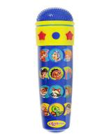 Купить Музыкальная игрушка Азбукварик Микрофон Караоке Песенки В. Шаинского , цвет: синий, желтый, Интерактивные игрушки
