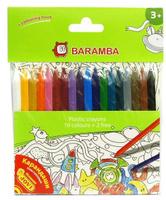 Купить Набор пластиковых карандашей в блистере 18 шт +внутренний вкладыш-раскраска, Baramba