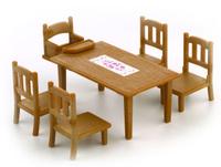 Купить Sylvanian Families Игровой набор Обеденный стол с пятью стульями
