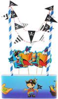 Купить Веселая затея Декор-комплект для украшения торта Маленький пират , General Consolidated Impex Company