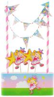 Купить Веселая затея Декор-комплект для украшения торта Звездная Фея , General Consolidated Impex Company