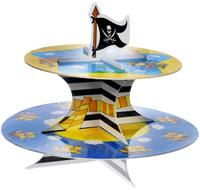 Купить Веселая затея Стойка для кексов Маленький пират , 2 яруса, General Consolidated Impex Company