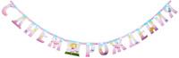 Купить Веселая затея Гирлянда-буквы С днем рождения: Звездная фея , 230 см, General Consolidated Impex Company