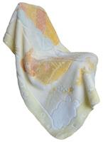 Купить Bonne Fee Плед-одеяло 80х110, набивка, жаккардовый рисунок, желтый, Пледы и покрывала