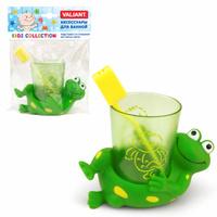 Купить Valiant Подставка со стаканом для зубных щеток Лягушата