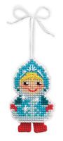 Купить Набор для изготовления подвесного украшения Riolis Новогодняя игрушка. Снегурочка , 5, 5 см х 8 см, Игрушки своими руками