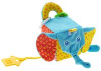 Купить Мякиши Мягкая развивающая игрушка Кубик слон