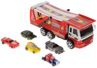 Купить Junfa Toys Игровой набор Автовоз и 5 машинок-трансформеров цвет автовоза красный, Машинки