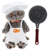 Купить Мягкая игрушка Басик шеф-повар со сковородкой 25 см, Буди Баса Budibasa, Мягкие игрушки