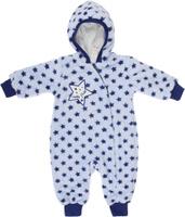 Купить Комбинезон детский Lucky Child Велсофт, цвет: голубой, темно-синий. 25-2. Размер 56/62, 0-3 месяца, Одежда для новорожденных