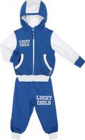 Купить Спортивный костюм детский Lucky Child, цвет: синий, белый. 8-4. Размер 98/104, 4 года, Одежда для новорожденных