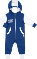 Купить Комбинезон детский Lucky Child, цвет: синий, белый. 8-3. Размер 86/92, 2 года, Одежда для новорожденных