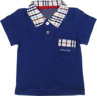 Купить Поло для мальчика Lucky Child, цвет: темно-синий, бежевый. 40-50. Размер 128/134, Одежда для новорожденных