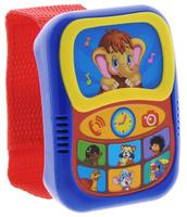 Купить Азбукварик Музыкальная игрушка Говорящий плеер-часики цвет синий красный, Интерактивные игрушки