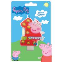 Купить Peppa Pig Свеча для торта Цифра 1, Росмэн