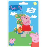 Купить Peppa Pig Свеча для торта детская Цифра 3, Росмэн