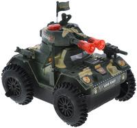 Купить Junfa Toys Танк со световыми и звуковыми эффектами цвет зеленый бежевый, Машинки