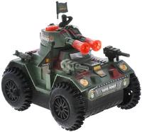 Купить Junfa Toys Танк со световыми и звуковыми эффектами цвет зеленый красный, Машинки