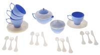 Купить Набор детской посуды Чайный сервиз Волшебная Хозяюшка , 22 предмета, цвет: белый, голубой, Нордпласт, Сюжетно-ролевые игрушки