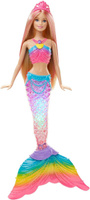 Купить Barbie Кукла Радужная русалочка цвет розовый голубой, Куклы и аксессуары