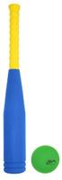 Купить Safsof Игровой набор бейсбольная бита мяч цвет синий желтый зеленый 55 см, Спортивные игры