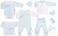 Купить Подарочный комплект для новорожденного Lucky Child Ангелочки, цвет: голубой, 9 предметов. 17-1000. Размер 62/68, Одежда для новорожденных