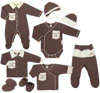 Купить Подарочный комплект для новорожденного Lucky Child Классик, 9 предметов, цвет: кофейный, молочный. 20-1000. Размер 62/68, Одежда для новорожденных