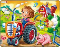 Купить Larsen Пазл Дети на ферме Трактор, L.A.Larsen AS
