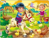 Купить Larsen Пазл Дети на ферме Пони, L.A.Larsen AS