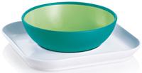 Купить MAM Набор посуды для кормления Baby's bowl & plate цвет зеленый, Посуда для самых маленьких