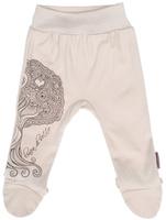 Купить Ползунки на широком поясе Linea Di Sette Дуб'ок, цвет: бежевый, коричневый. 04-0501. Размер 80, 12 месяцев, Одежда для новорожденных