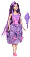 Купить Barbie Кукла Принцесса с длинными волосами цвет одежды розовый фиолетовый