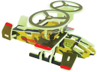 Купить Bebelot 3D мягкий конструктор Военный вертолет, Биг Три Интернешенел КО., ЛТД.
