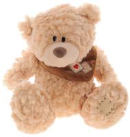 Купить Plush Apple Мягкая музыкальная игрушка Медведь с шарфом цвет светло-рыжий 41 см, Kids First Toys Co., LTD