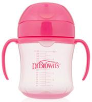 Купить Dr.Brown's Поильник-непроливайка с мягким носиком от 6 месяцев цвет розовый 180 мл, Handi-Craft Company
